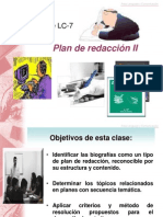 Clase LC-7 Ppt. Plan de Redacción II