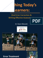 error correction and assessment