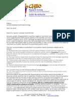 Lancet Editorial Response