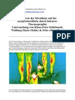 Nachweis Der Meridiane Auf Der Körperoberfläche Durch Infrarot-Thermographie