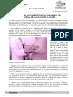 25_Octubre_2014.- Fortalece SSO acciones en el día nacional de Lucha Contra el cáncer.doc