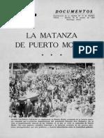 Matanzas en Chile Siglo Xx