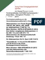 NEUIGKEITEN DER BEGANGENEN VERBRECHEN DER LANDES- UND HOCHVERFASSUNGSVERRÄTER-INNEN - 03. November 2014
