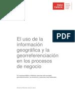 El uso de la informacion geografica y la georeferenciacion