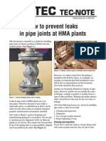 Prevent Leaks Pipe Joints