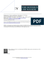 Leigh, Lustgarten - Employment, Justice and Détente˸ The Reform of Vetting