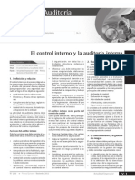 El Control Interno y La Auditoria Interna