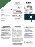 November 2, 2014 Trifold Bulletin