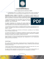 18-10-2012 El Gobernador Guillermo Padrés presidió la décimo cuarta reunión ordinaria del Consejo Estatal de Seguridad Pública. B101270