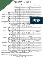 Mahler - Symphony No 1 Mvt I (complete score)