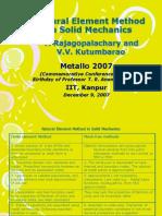 Natural Element Method in Solid Mechanics Rajagopalachary