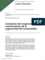 Instalación Del Imaginario y La Representación de La Superioridad Del Conquistador