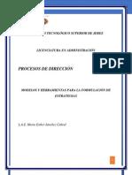 2.2. Modelos y Herrramientas Para La Formulacion de Estrateias