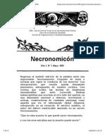 Necronomicón, Año 1 Número 1. Mayo 1993