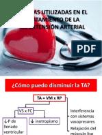 Drogas Utilizadas en El Tratamiento de La Hipertensión.p Pt