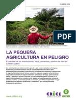 La pequeña agricultura en peligro