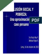 Exclusion Social y Pobreza Peru