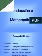 Mathematica Intro