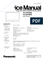 TH-42PG9W Service Manual
