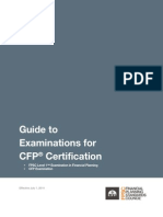 Guide to Examinations for Cfp Certification