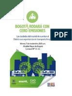Bogotá Rodará Con Cero Emisiones