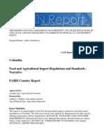 Regulaciones Alimentarias