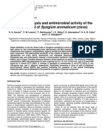 Chemical Analysis and Antimicrobial Activity of the Essential Oil of Syzigium Aromaticum (Clove)