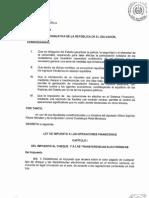 Ley de Impueso a Las Operaciones Financieras DL 764