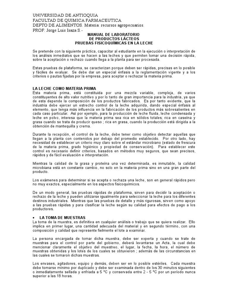 Manual de Laboratorio Leches