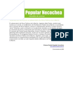 Gacetilla de Prensa del Frente Popular Necochea 05