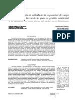 Art 10 Metodologia de Caculo de La Capacidad de Carga