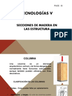 SECCIONES DE MADERA EN LAS ESTRUCTURA