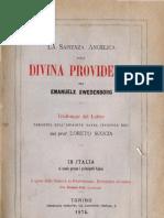 Em Swedenborg La Sapienza Angelica Sulla Divina Providenza Loreto Scocia Torino 1874