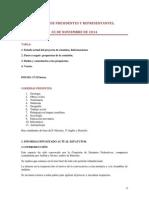 Concejo de Presidentes y Representantes 05 de Noviembre de 2014 Comisión