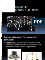 Should University Education Should Be Free