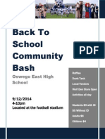 back to school community bash