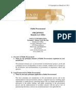 GPG CI PP Philippines - Public procurement