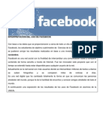 interpretacion del uso de facebook
