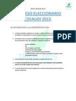 Proceso Eleccionario Ceeaudi 2015