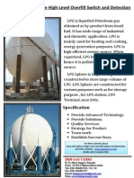 New LPG Sphere High Level Overfill Switch and Detection