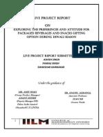 Live Project Report on Dabur India Ltd.