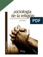Weber .Sociología de La Religión