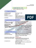 290-Daizo Tec Co.ltd Recruitment Information