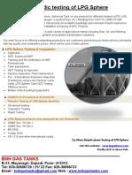 Periodic Testing of LPG Sphere