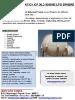 Recertification of Old 5000m3 LPG Sphere