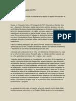 El Método de La Pedagogía Científica de Mariia Montessor