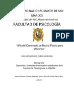 Depresión y Vivencias Depresivas en Estudiantes de La Facultad de Psicología de La UNMSM