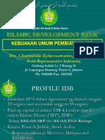 General Policy Idb-1