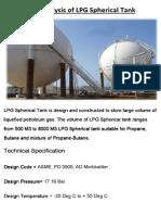 Risk Analysis of LPG Spherical Tank