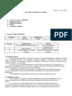 Procedura de Analiza a Posturilor